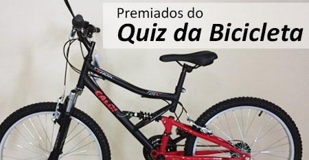 Ganhadores dos Prêmios do Quiz da Bicicleta