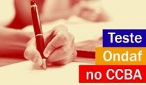 Teste Ondaf em julho e agosto no CCBA